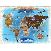 Map of the World Cardboard Jigsaw Puzzle