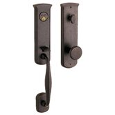 "Tahoe 4.7"" x 4.7"" Handle Set in Distressed Venetian Bronze"