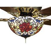 Tiffany Renaissance 3 Light Ceiling Fan Light