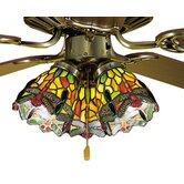 Tiffany Hanginghead Dragonfly Fan Light Shade
