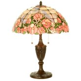 "24"" H Cabbage Rose Table Lamp"