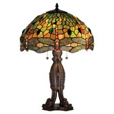 "24.5"" H Tiffany Hanginghead Dragonfly Table Lamp"