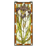 28&quot; H Tiffany Nouveau Iris Stained Glass Window