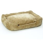 Corduroy Lounge Dog Bed in Honey