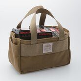Tin Cloth Shot Shell Bag in Dark Tan
