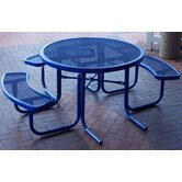 3-Seat ADA Round Picnic Table with Diamond Pattern