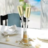 Champagne Flutes in a Vase