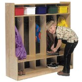 Five Section Locker with Seat/Step