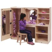 Children's 48&quot; One-Piece Vanity with Closet