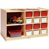 Double-Sided Storage Cabinet