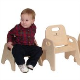 "5"" Wood Classroom Toddler Stackable Chair"