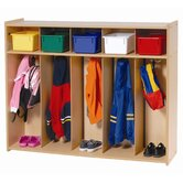 Toddler 5-Section Locker