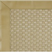 Jute Basketweave Smooth Leather Husk Bordered Rug