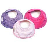 Girl Newborn Bibs 3 Pack in Lilac / Pale Pink / Fuchsia