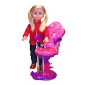 18&quot; On the Go Girl Doll and Salon Chair