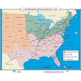U.S. History Wall Maps - Underground Railroad