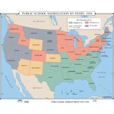 U.S. History Wall Maps - Public School Segregation by State