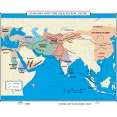 World History Wall Maps - Eurasia &amp; Silk Roads