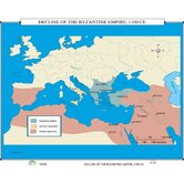 World History Wall Maps - Decline of Byzantine Empire