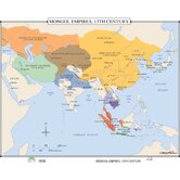 World History Wall Maps - Mongol Empires 13th Century