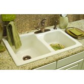 Advantage Providence 60/40 Double Bowl Self Rimming Kitchen Sink