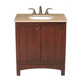 "Charleston 32"" Bathroom Vanity in Dark Cherry with Marble Top"