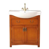 "Alexia 32"" Bathroom Vanity Set in Polished Cherry Red"