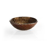 Reflex Vessel Sink in Metallic Brown Copper Vine
