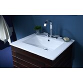 25&quot; Vanity Top with Square Bowl