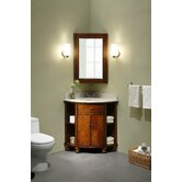"Carlton 20"" Corner Bathroom Vanity Set in Antique Maple"