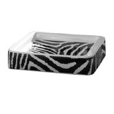 Safari Soap Holder in Black and White Zebra Print