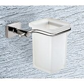 Minnesota Frosted Glass Toothbrush/Tumbler Holder in Chrome