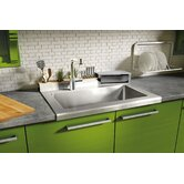 "Classic 30"" x 26"" Worktop Stainless Steel Single Bowl Kitchen Sink"