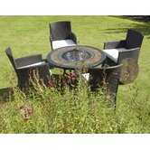 Durango Fire Pit Dining Table and Hampton Chair Collection