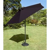 230cm Tuscany Parasol in Black with Base