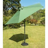 230cm Tuscany Parasol in Green with Base