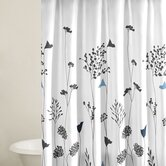 Asian Lily Shower Curtain in White