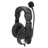 Headphone with Adjustable Gooseneck Microphone