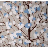 Lumimarja Wallpaper in Blue and White by Erja Hirvi