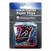 Paper Clips, Jumbo, Vinyl, 40/PK, Assorted