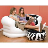Kid's Loveseat and Ottoman Set