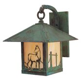 Timber Ridge Outdoor Wall Lantern with Horse Filigree