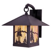 Timber Ridge Outdoor Wall Lantern with Mountain Filigree