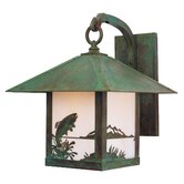 Timber Ridge Outdoor Wall Lantern with Trout Filigree