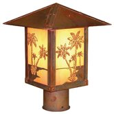 Timber Ridge Outdoor Post Lantern with Filigree