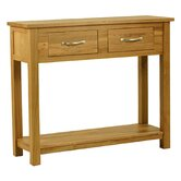 Essentials Console Table in Light Oak Stain and Satin Lacquer