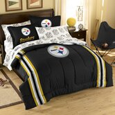 NFL Pittsburgh Steelers Embroidered Twin / Full Comforter Set
