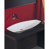 Ceramica 31.5&quot; x 15.7&quot; Vessel Sink in White