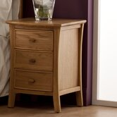 Calgary 3 Drawer Bedside Table