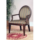 Striped Fabric Arm Chair